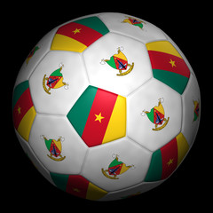 Fussball mit Fahne Kamerun