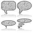Social Media, communication bubbles with letters, vector