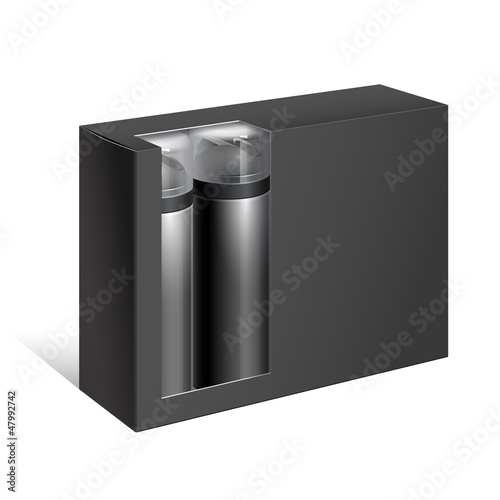 Black Gift Package Cardboard Box