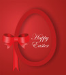 Red paper Easter egg