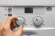 Leinwanddruck Bild - house heating boiler