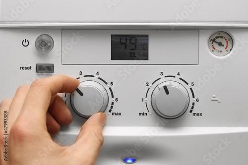 Leinwanddruck Bild house heating boiler