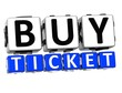 3D Buy Ticket Button Click Here Block Text