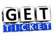 3D Get Ticket Button Click Here Block Text