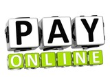 3D Pay Online Button Click Here Block Text