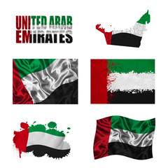 United Arab Emirates flag collage