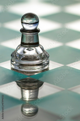 Chess pawn - business concept series - strategy, growth