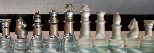 Chess Pieces - business concept series: company, merge