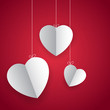 Hanging Heart in Love Background