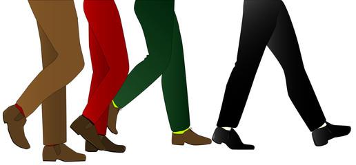 Mens Legs Walking