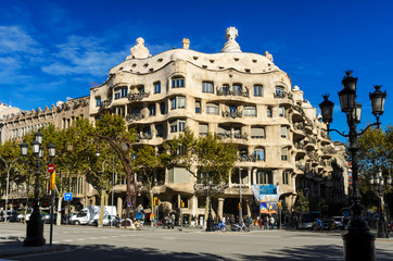Casa Mila designed by Gaudi, Barcelona, Spain