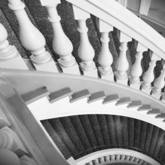 Stairs with balusters