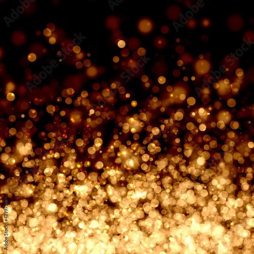 Złote tło abstrakcyjna światła