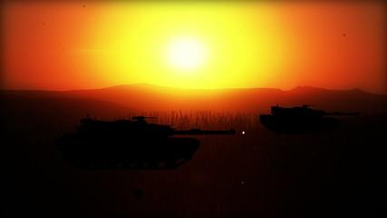 Battlefield W/5 battle scenes (silhouettes) World War II