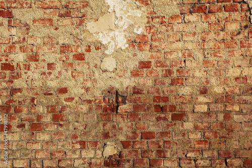 brüchige Backsteinmauer