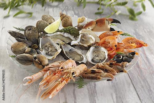 Keuken foto achterwand Schaaldieren Plateau de fruits de mer