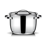 Stainless steel kitchenware vector