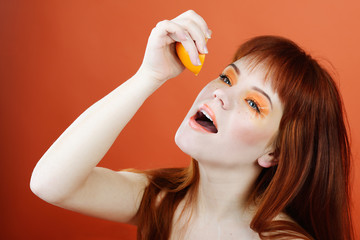 enjoying of orange
