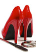 High heels and riding crop