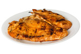Spicy grilled chicken on plate