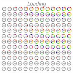 colorful different circle loader progress bar, vector