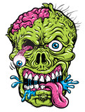 Detailed Zombie Head Illustration