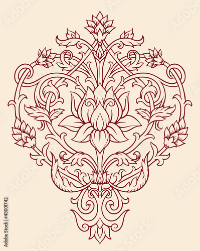 Ornate Lotus Flower Vector