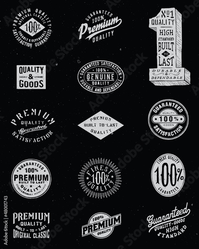 Vintage Labels Vector Set