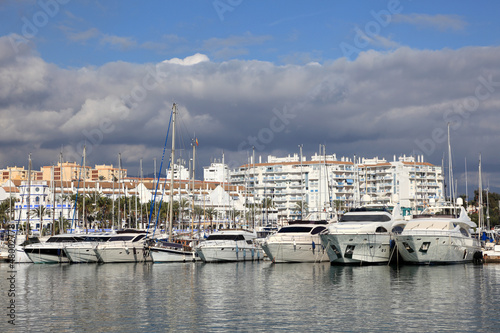 Fishing boats in the port of Estepona, Spain