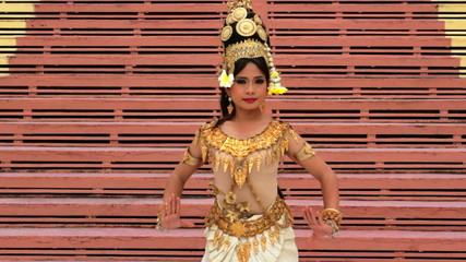 Apsara Dancer seductive supernatural female in asian mythology