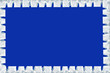 Rahmendesign Winter - blauer Hintergrund