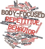Word cloud for Body-focused repetitive behavior poster