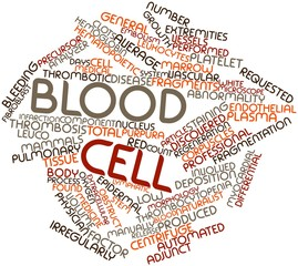 Word cloud for Blood cell