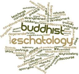 Word cloud for Buddhist eschatology