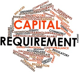 Word cloud for Capital requirement
