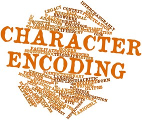 Word cloud for Character encoding