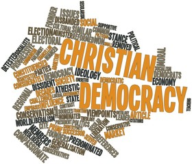 Word cloud for Christian democracy