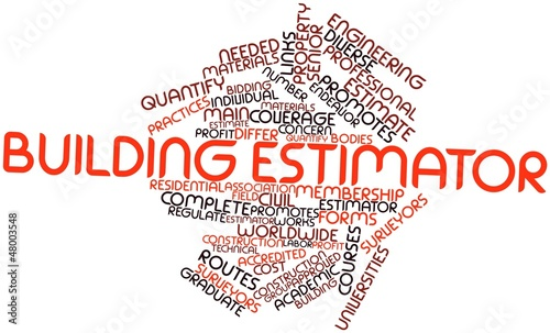 Word cloud for Building estimator