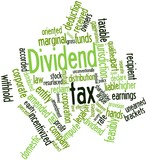 Word cloud for Dividend tax poster