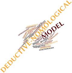 Word cloud for Deductive-nomological model