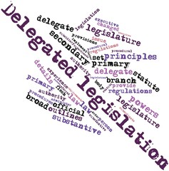 Word cloud for Delegated legislation