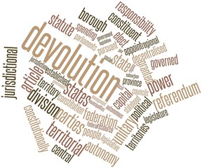 Word cloud for Devolution