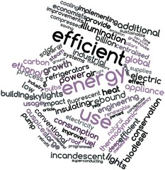 Word cloud for Efficient energy use