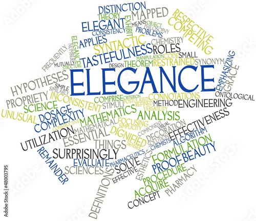 Word cloud for Elegance