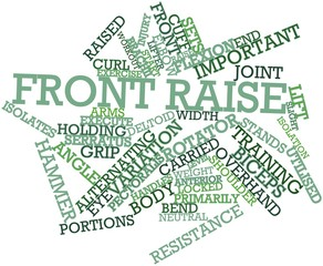 Word cloud for Front raise