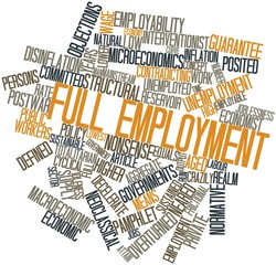 Word cloud for Full employment
