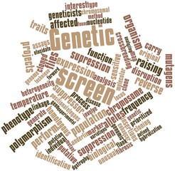 Word cloud for Genetic screen