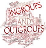 Word cloud for Ingroups and outgroups