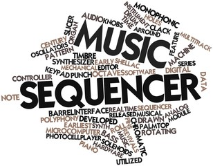 Word cloud for Music sequencer