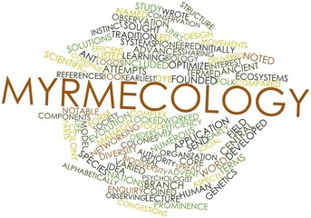 Word cloud for Myrmecology